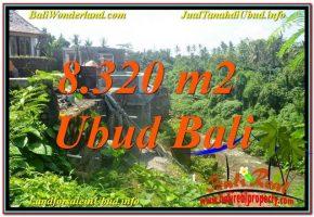 TANAH MURAH DIJUAL di UBUD BALI 8,320 m2  View Sungai, Link. Villa