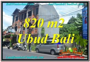 DIJUAL TANAH di UBUD 820 m2 di Sentral / Ubud Center