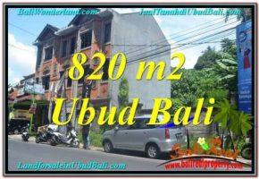TANAH di UBUD DIJUAL MURAH 820 m2 di Sentral / Ubud Center