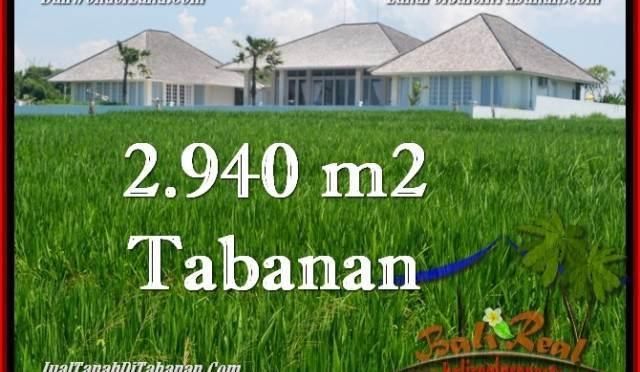 TANAH MURAH JUAL di TABANAN BALI 2,940 m2 View Laut, Gunung dan sawah