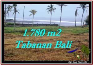 TANAH di TABANAN JUAL MURAH 1,780 m2  View sawah, laut dan gunung