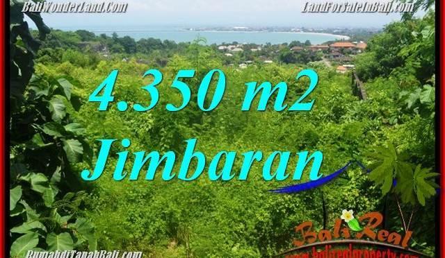 JUAL MURAH TANAH di JIMBARAN 4,350 m2 View Laut