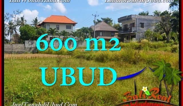 TANAH DIJUAL MURAH di UBUD BALI 600 m2 di Sentral Ubud