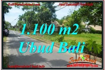 TANAH MURAH DIJUAL di UBUD BALI 1,100 m2 di Sentral / Ubud Center