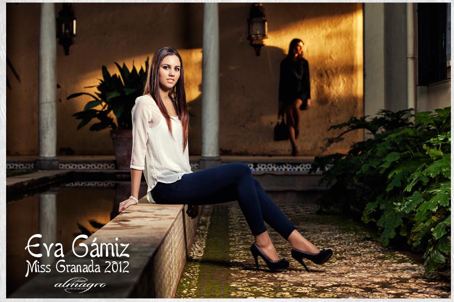 Sesión de fotos para Eva Gamiz, Miss Granada 2012 por el Fotografo Juan Almagro Martinez