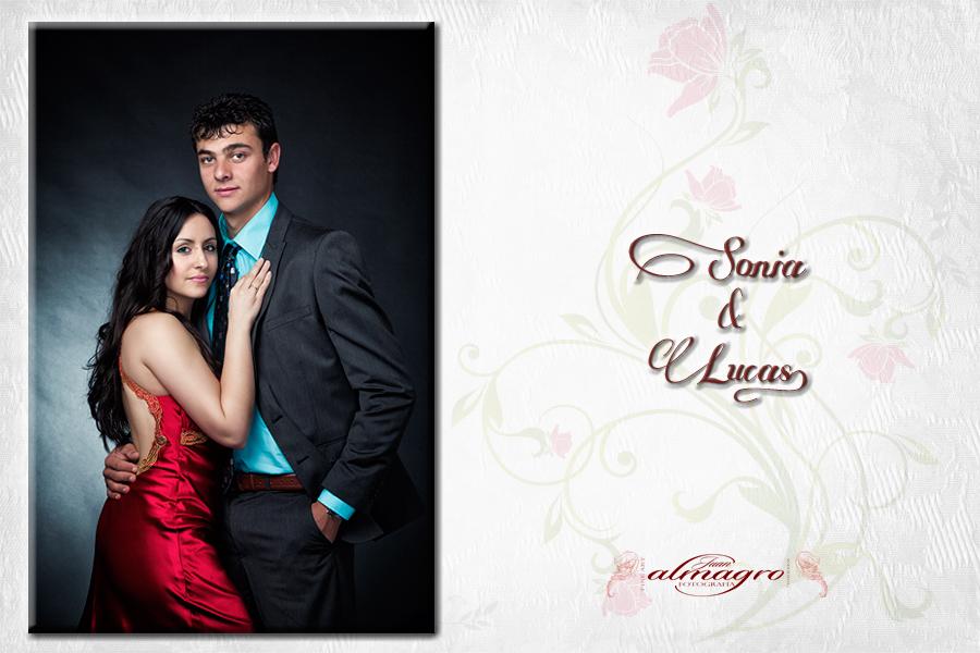 Fotografia de una pareja de de novios realizada en nuestro estudio de Valdepeñas de jaén
