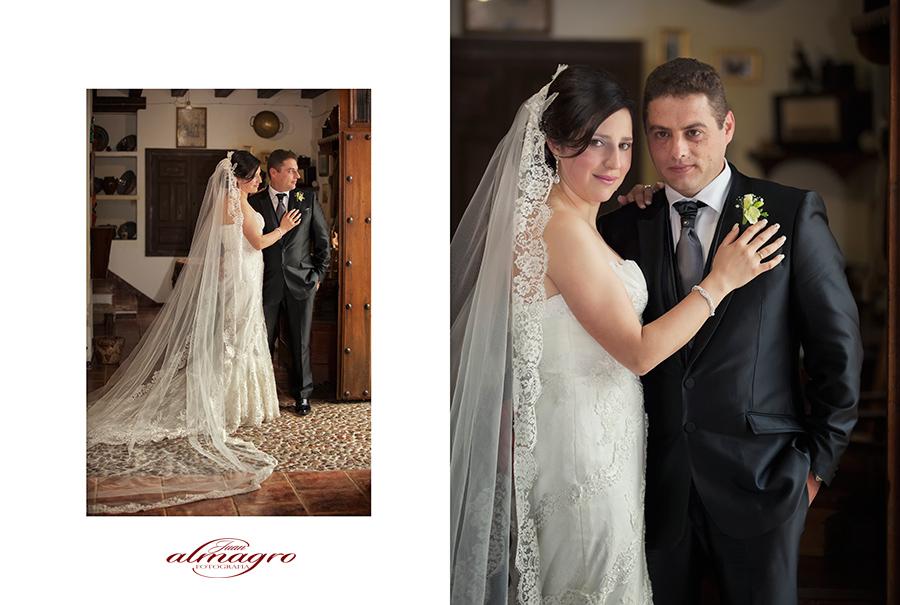 Fotos realizadas el día de la boda en el Molino Museo de Santa Ana de Valdepeñas de Jaén