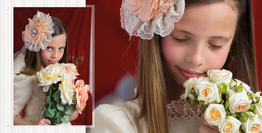Fotografía de niña de comunión en el estudio de Fotografia Juan Almagro
