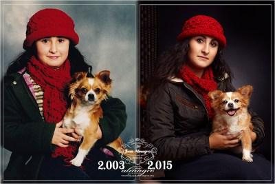 Ayer y Hoy  - Fotos de Lorena con su mascota