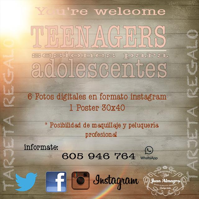 Sesiones de fotos especialmente diseñadas para adolescentes