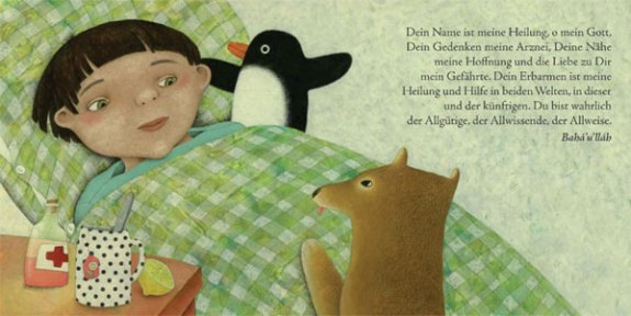 Illustration from Gebete für Kinder - Bahá'í-Verlag 2009 - illustrated by Constanze Von Kitzing