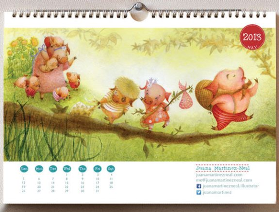 Storybook Brushes - 2013 Calendar - Interior