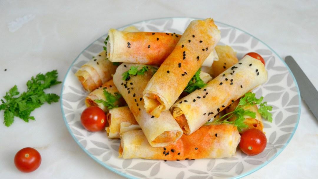Rollitos de atún con tomate y huevo