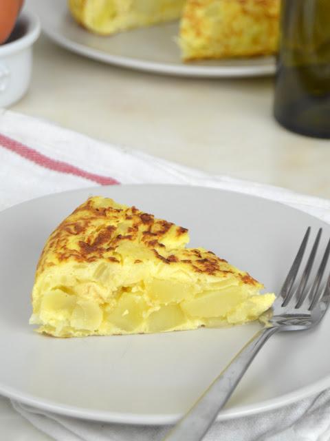receta. tortilla de patatas al microondas