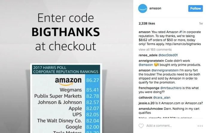 6- 10 mejores campañas de marketing en instagram del 2017