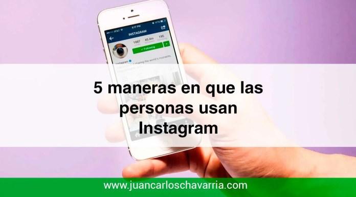 5 maneras en que las personas usan instagram