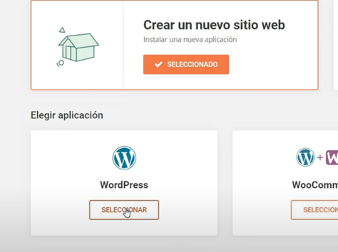 crear sitio con wordpress