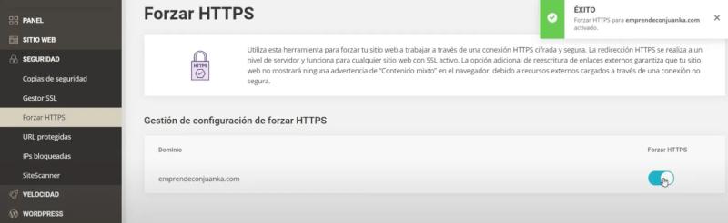 forzar https siteground