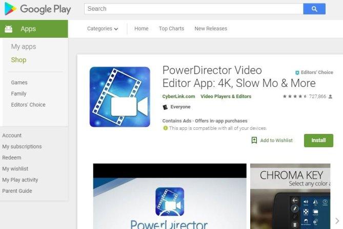 owerDirector Video Editor