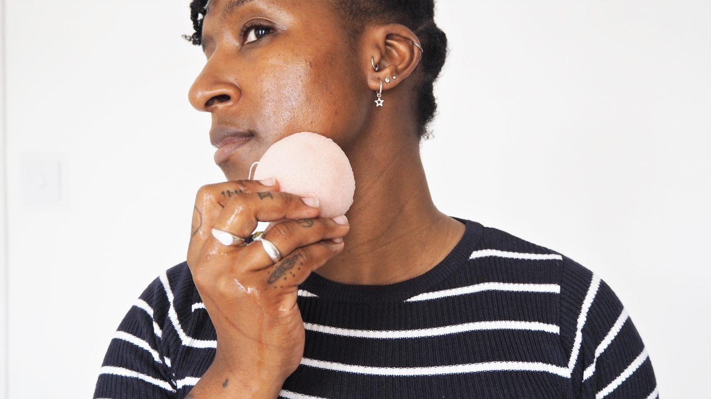 The Vegan Kind konjac clay facial sponge