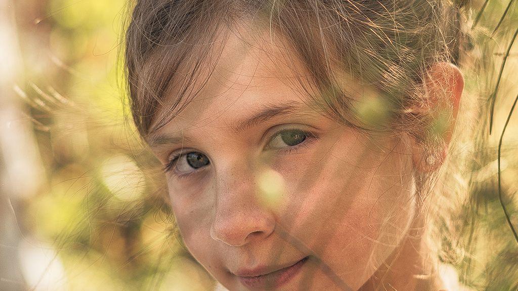 Los ojos de Jumena en su reportaje de comunion