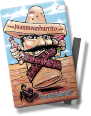Now available: give a gift certificate card to Burrito Bandito - in Redding, Anderson, Red Bluff and Chico!