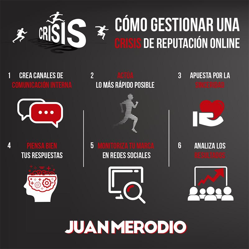 infographie en ligne dans une crise de réputation
