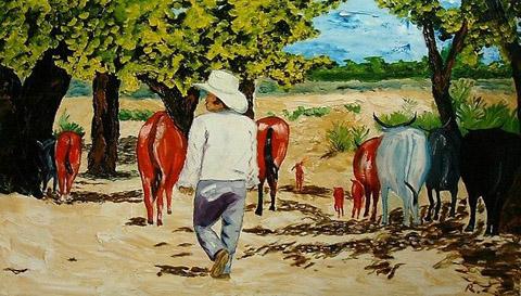 Mexican cowboy in sombrero