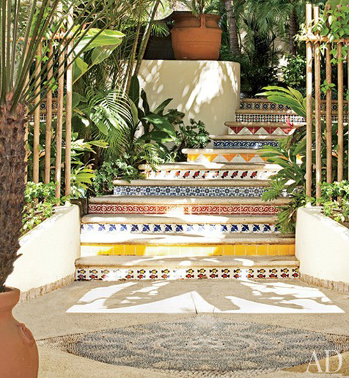Mexican Tile stairs