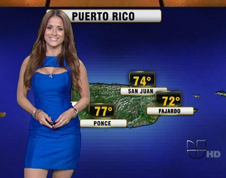 Jackie Guerrido Univision weather girl