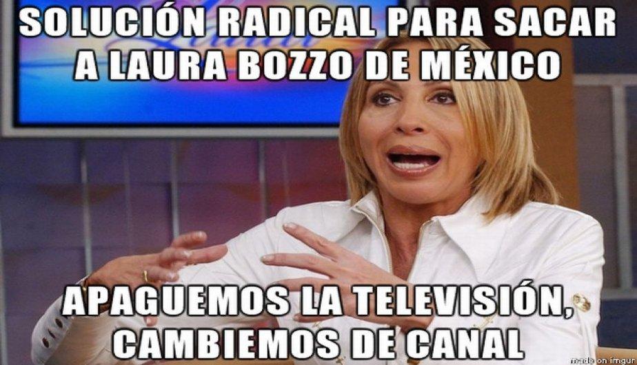 Laura Bozzo Fuera de Mexico
