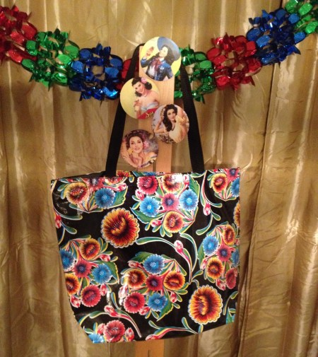 12 Days of Christmas: Day Two - Mexican Oil Cloth Tote and Calendar Girl Coasters