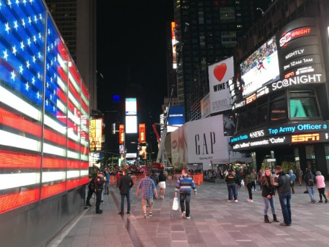 Visiting Time Square in New York City