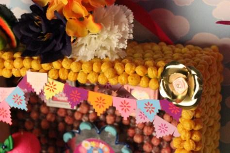 Día de los Muertos Retablo made with Cereal
