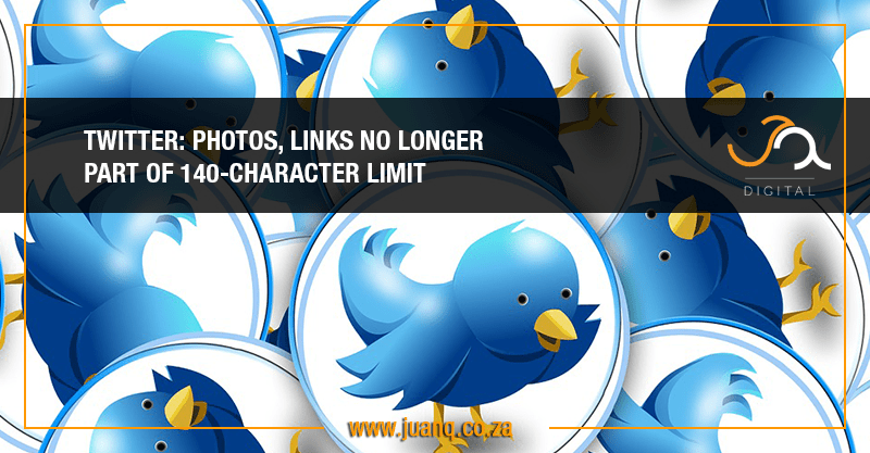 Twitter: Photos, links will no longer impact 140-character limit