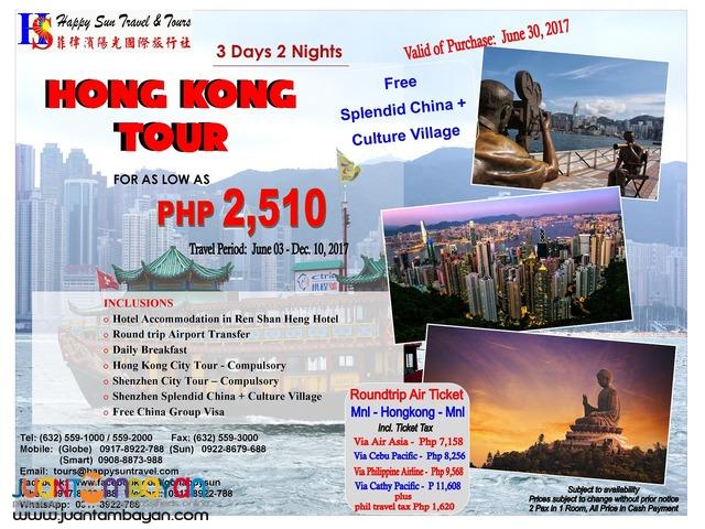 Hong Kong With Free Splendid China Culture Village