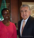 Se reúne Presidente Municipal de Juárez con Secretaria de Hacienda de Uganda