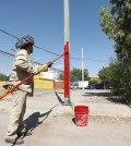Remozan y rehabilitan luminarias de Fovisste Chamizal