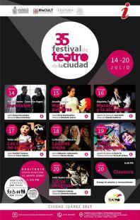 35 festival de teatro de la ciudad cartel