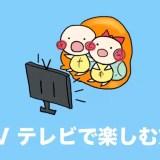 dTV テレビで見る方法