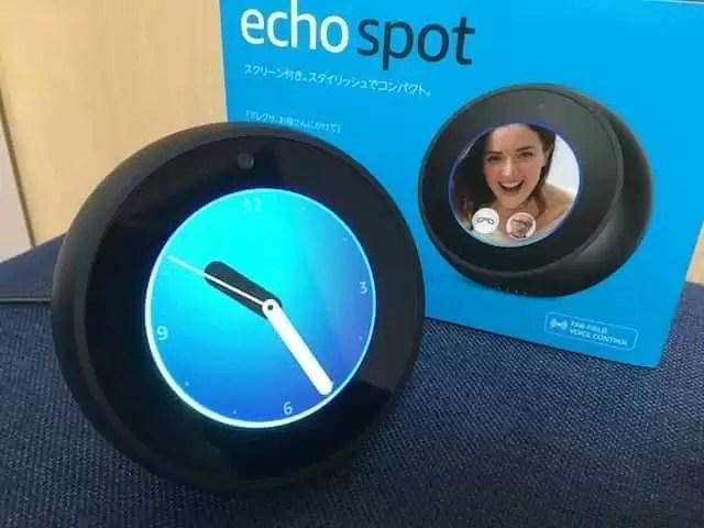 Echo spot 時計