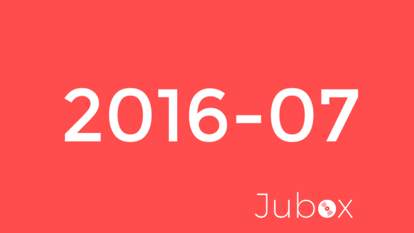 2016 juillet playlist