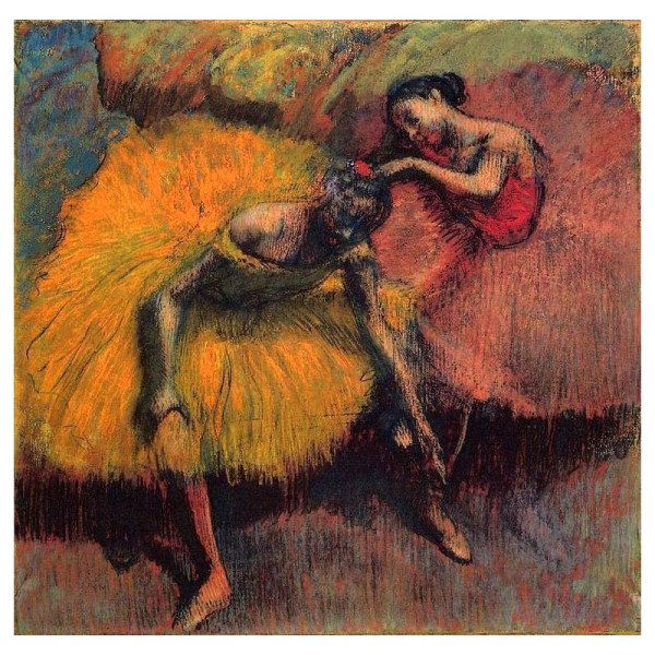 """two Dancers In Yellow And Pink"" Edgar Degas Oil"