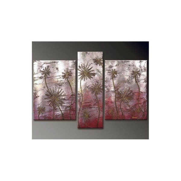 Desert Flowers Abstract Oil Painting