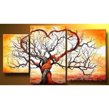Fire Tree Abstract oil painting on sale