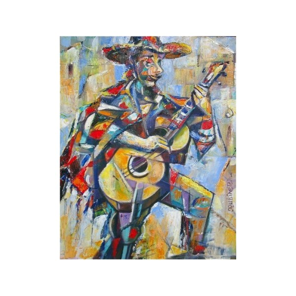 Israel Rubinstein - Mexican Jew Jewish Art Oil