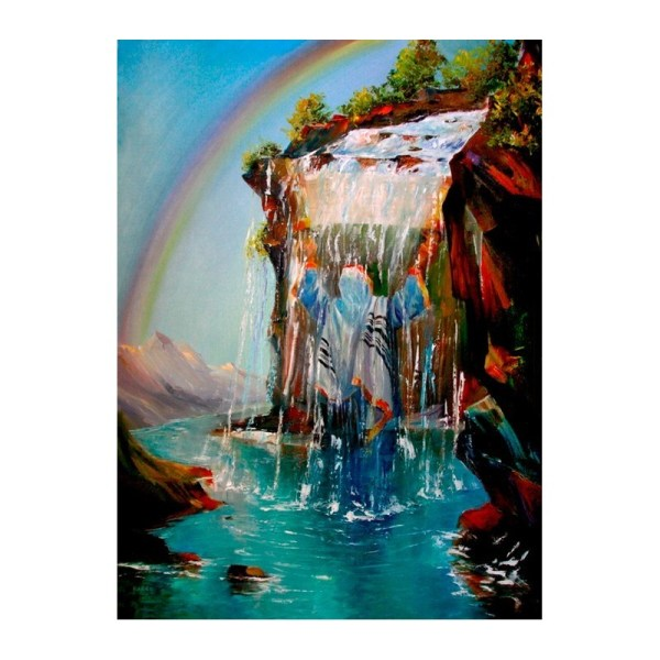 Thirst Torah Oil Painting Jewish Art