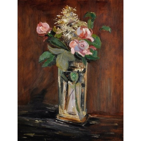 Flowers in a Crystal Vase by Edouard Manet  Oil
