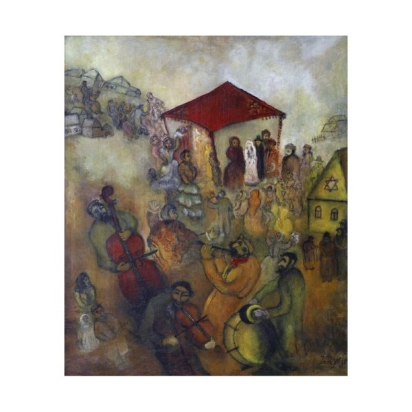 Jewish Wedding Issachar Ber Ryback Oil Painting