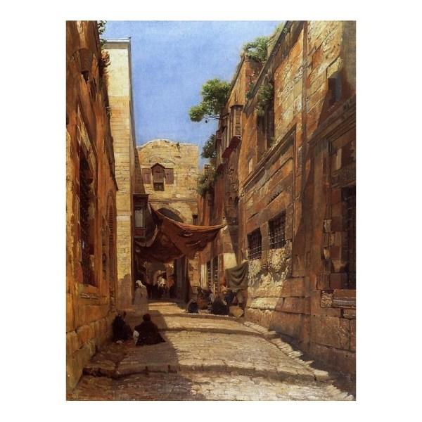 Street Scenes Oil Paintings